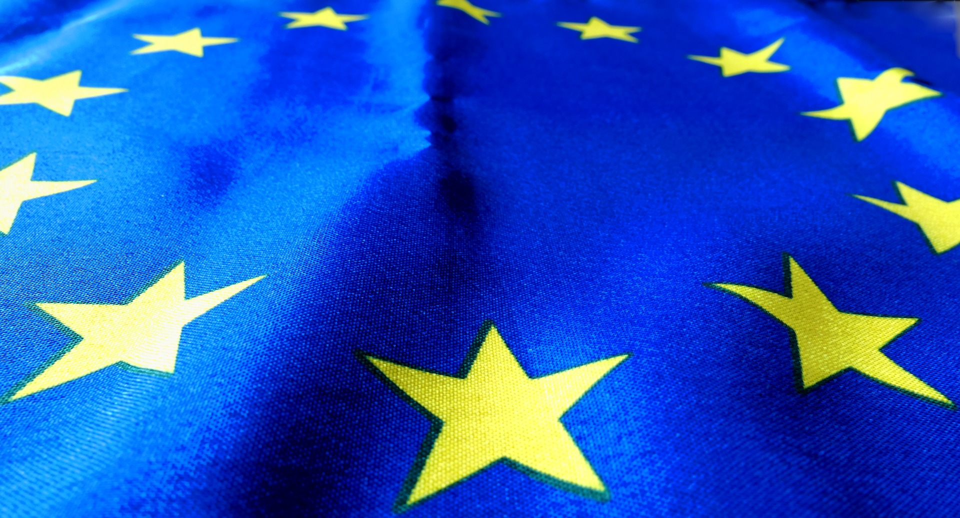 Close-up from the European Union flag.